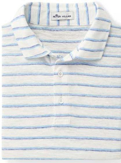 Peter Millar - Seaside Albemarle Striped Slub Polo - White