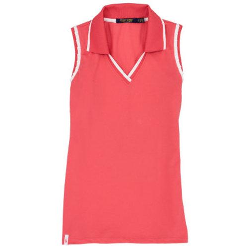 RLX Golf - Women's Cricket Sleeveless Polo - Peaceful Coral