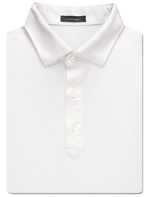 Turtelson Palmer Solid Performance Polo White