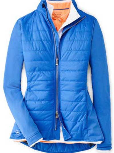 Peter Millar - Women's - Madeline Hybrid Full Zip Jacket - Lazuline