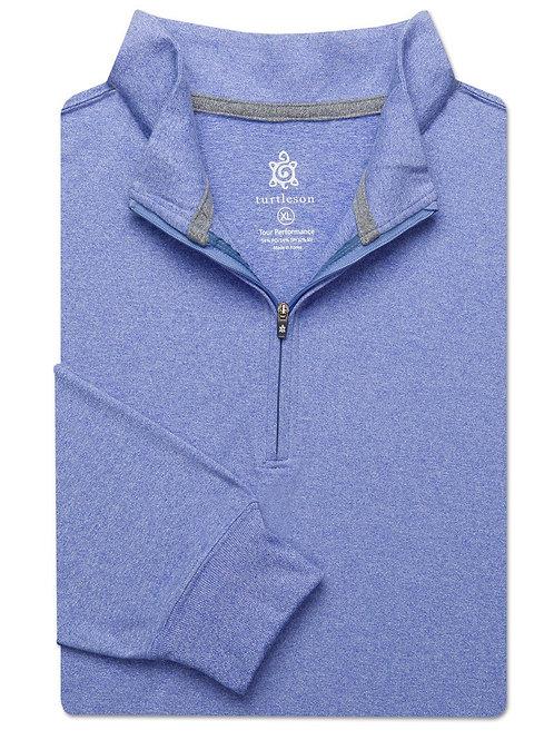 Turtelson Siro Long Sleeve Quarter Zip Pullover Marine