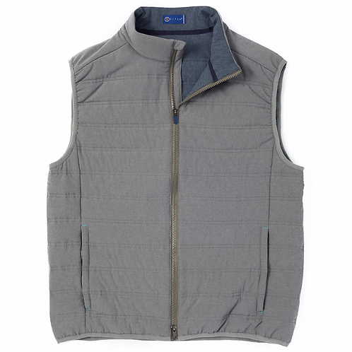 Stitch Cabrio Quilted Vest, Charcoal