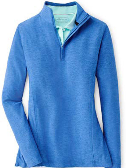 Peter Millar - Women's - Melange Perth Quarter Zip - Lazuline