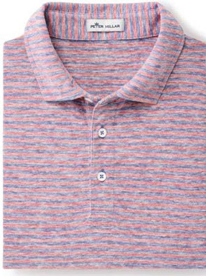 Peter Millar - Seaside Albemarle Striped Slub Polo - Lazuline