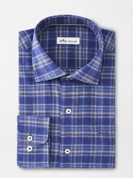 Flannel Woven Shirt, Navy
