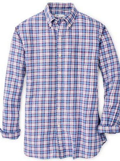 Peter Millar - Seaside Tamarama Plaid Sport Shirt - Lazuline