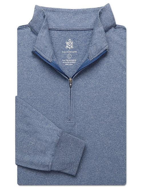 Turtelson Siro Long Sleeve Quarter Zip Pullover Navy