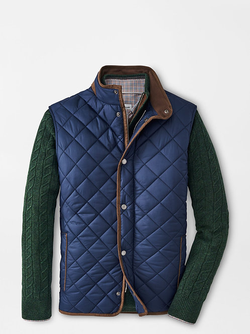 Peter Millar Quilted Vest, Navy