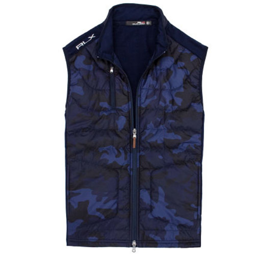 RLX Golf - Men's RLX Cool Wool Vest - French Navy Camo