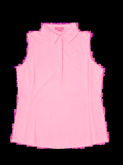 Golftini - Sleeveless Tech Polo - Light Pink