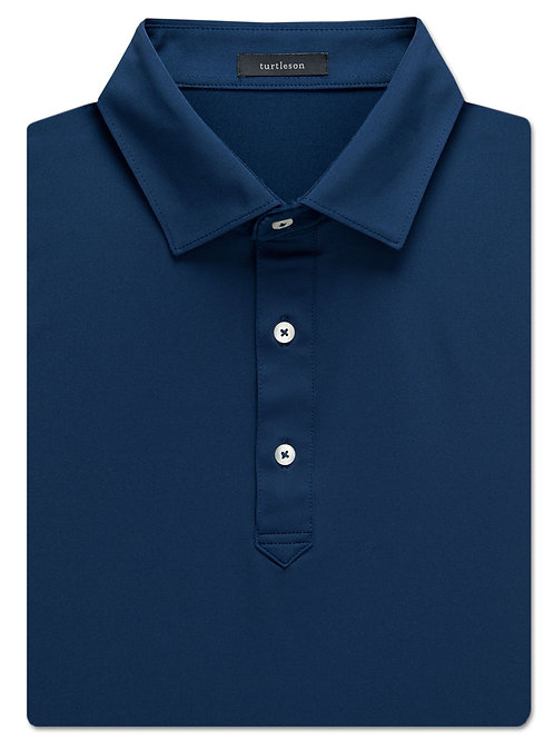 Turtelson Palmer Solid Performance Polo Navy