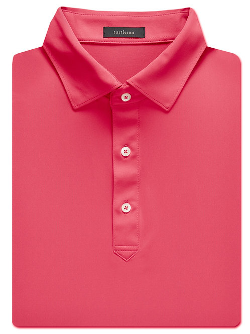 Turtelson Palmer Solid Performance Polo Watermelon