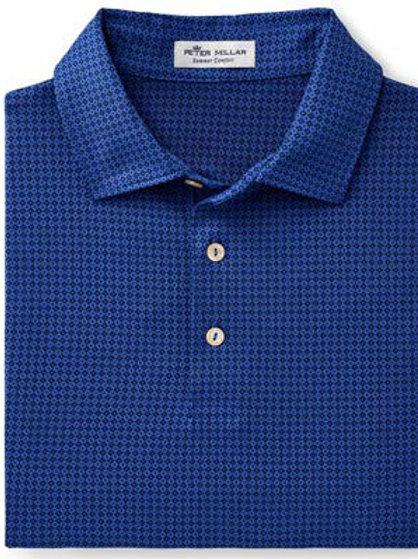 Peter Millar - Duncan Printed Foulard Stretch Jersey - Blue Lapis