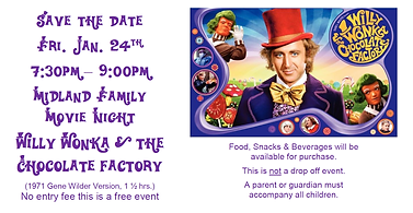 Wonka Movie Night Save the Date flyer.pn