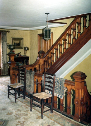 2nd floor main hall and stairs to 3rd floor bedrooms.jpg