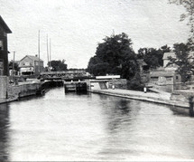Canal and shore across from grist mill