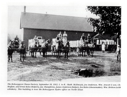 Bobcaygeon Cheese Factory Sept 1903 North St.