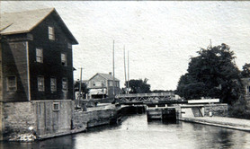 Grist mill on water side