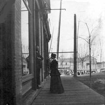 G Watt and Edith Junkin post mistress 1904