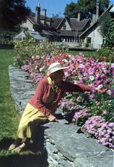 Sheila tending gardens