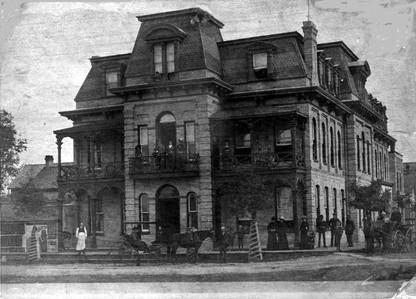 Rockland House, first built by Joseph Goulais burned April 12, 1904