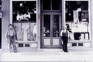 Herb Mark Clothing Store (Thomas Cosh left & Herb Mark)