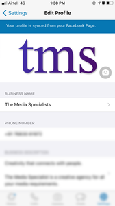 If you have a Facebook page and your Whatsapp is connected, Facebook will sync all the necessary details from your official page itself. However you can still keep editing some details.
