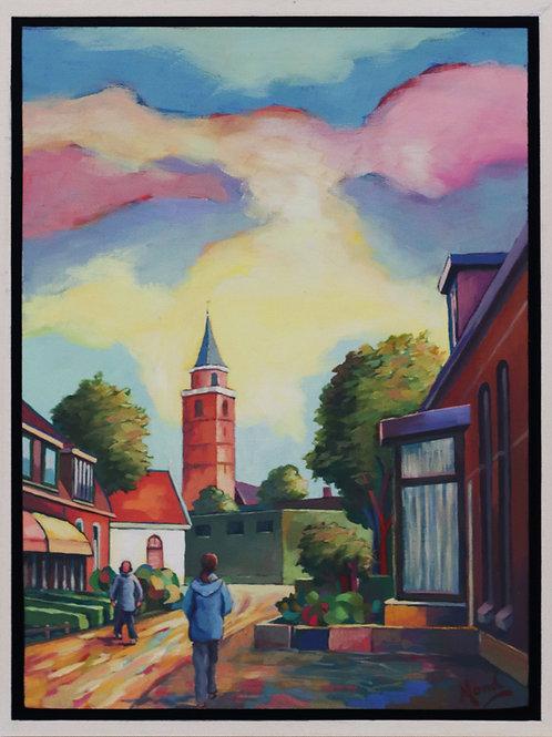 Rijnsburg, Valkenburgerweg, hoek Sandtlaan