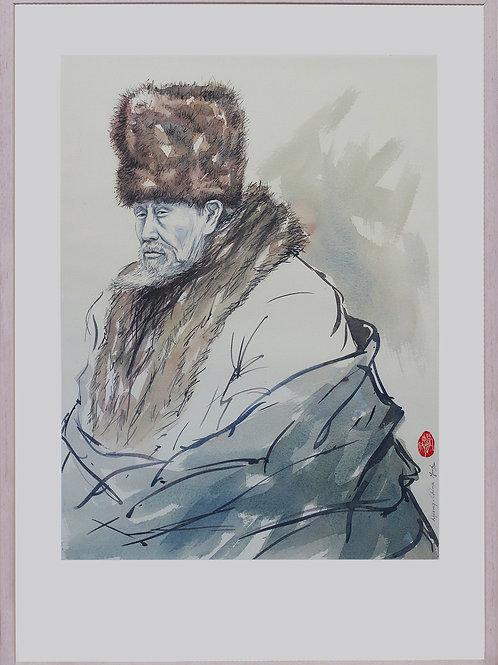 Lijiang, China (Old man with fur cap)