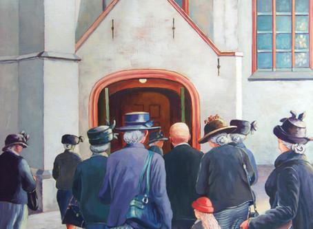 Recent werk: Kerkgang te Katwijk