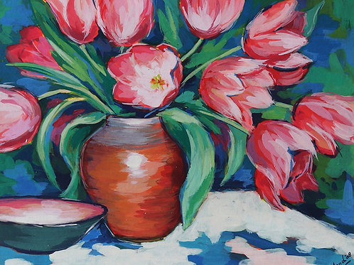 Untitled (Still Life of Tulips)
