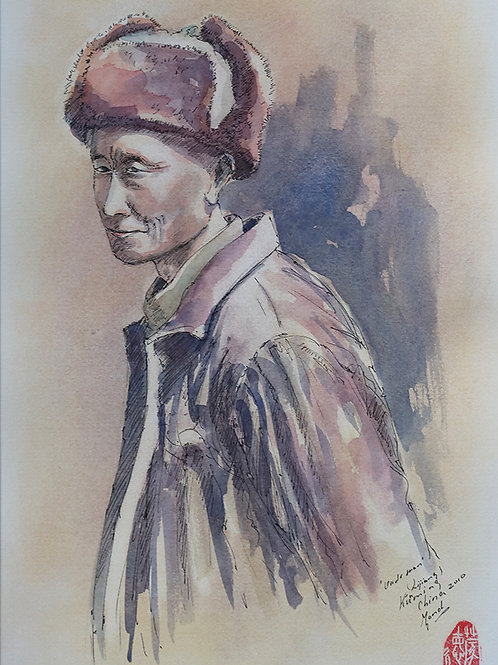 Oude man, Kunming, China