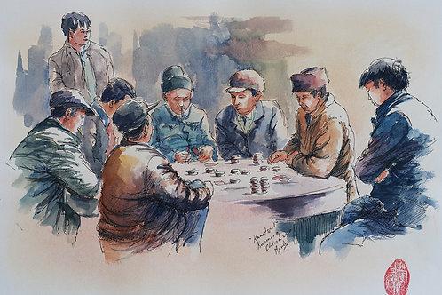 Kaartspel, Kunming, China