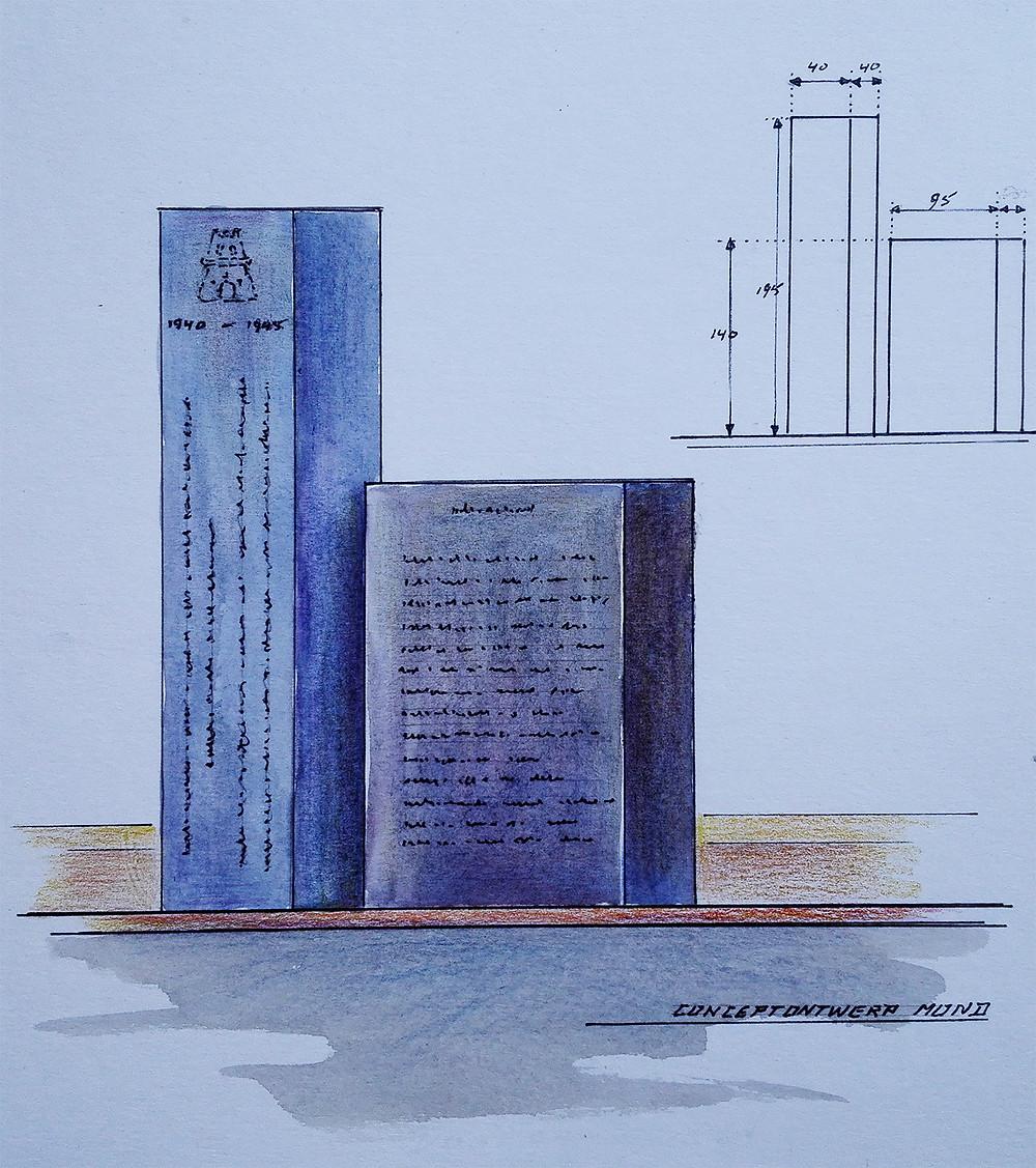 Concept Verzetsmonument voorzijde