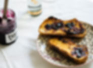 Bluberry Mermelada En Tostada