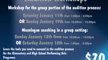 Performing Arts Programs - Audition Workshops 2020