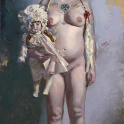 Woman WIth A Jules Nicholas Steiner Doll