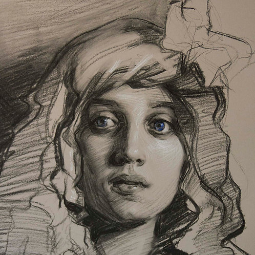 Drawing The Portrait in Charcoal, July 24-25, 2021