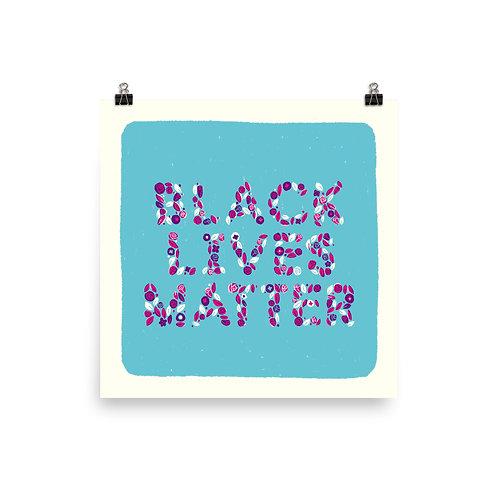 Black Lives Matter Poster in Colour