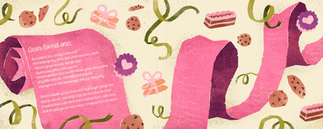 Spread from Sweet Betty's Cookie Emporium