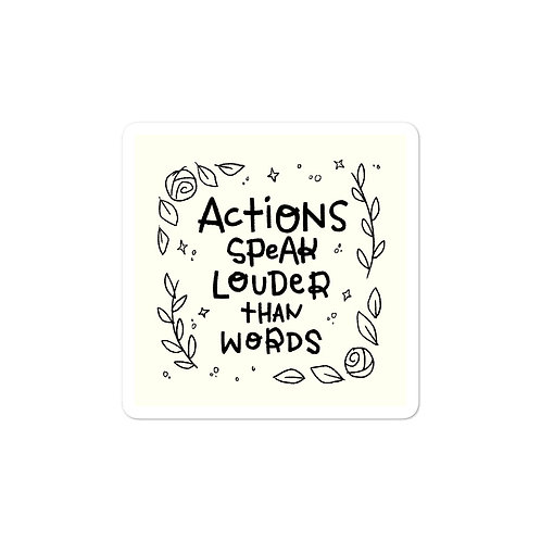 Actions (Black/White) Stickers