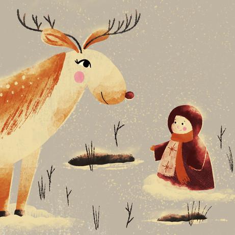 Snow Angel meets Reindeer