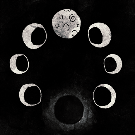 Moon cycles - Black/White version