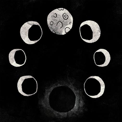 Moon cycles - Black/White version