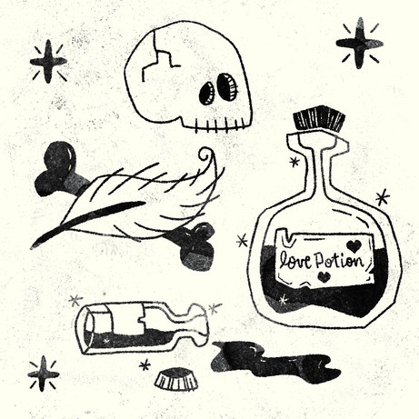 Love Potion - Black/White
