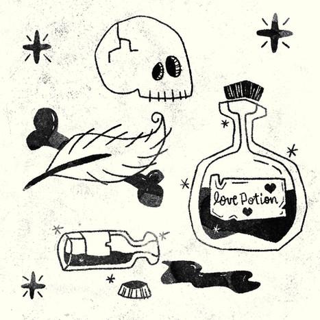 Love Potion - Black/White