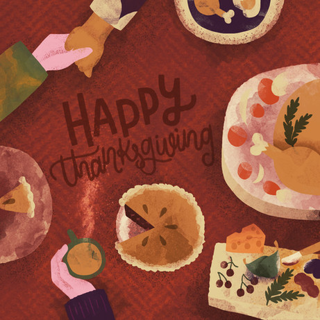Happy Thanksgiving Card commission