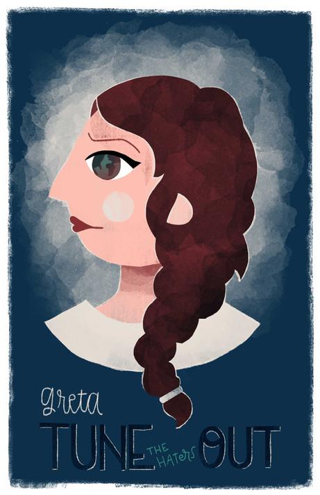 """Greta """"Tune-the-hates-out"""" Berg"""