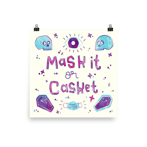 Mask It or Casket Poster In Colour