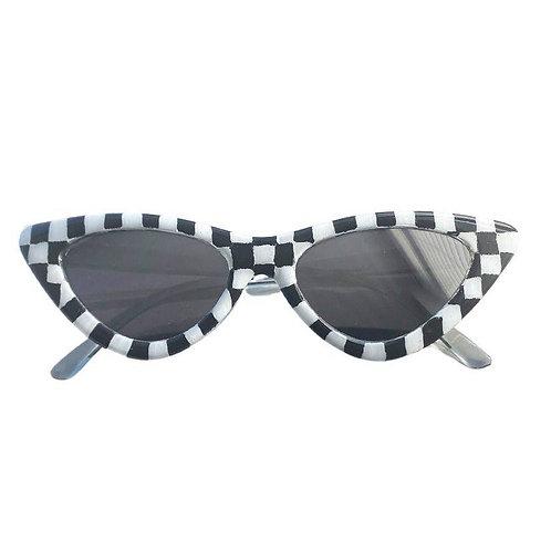 Checkered Cat Eye Sunnies